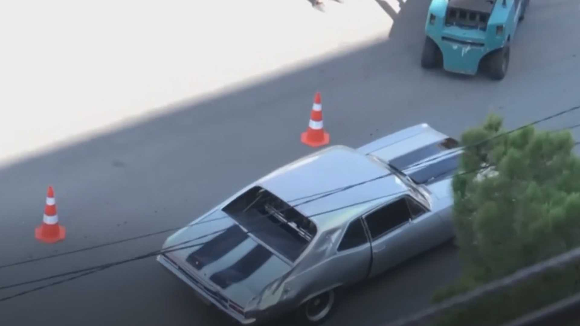 "[""Mid-Engine Dodge Charger Spotted During Fast And Furious 9 Shooting""]"