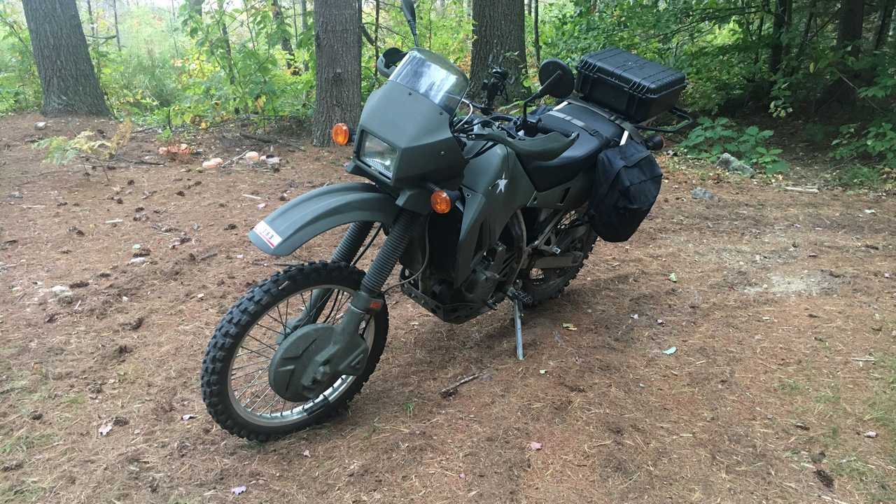 Kawasaki KLR 650 With Knobby Tires