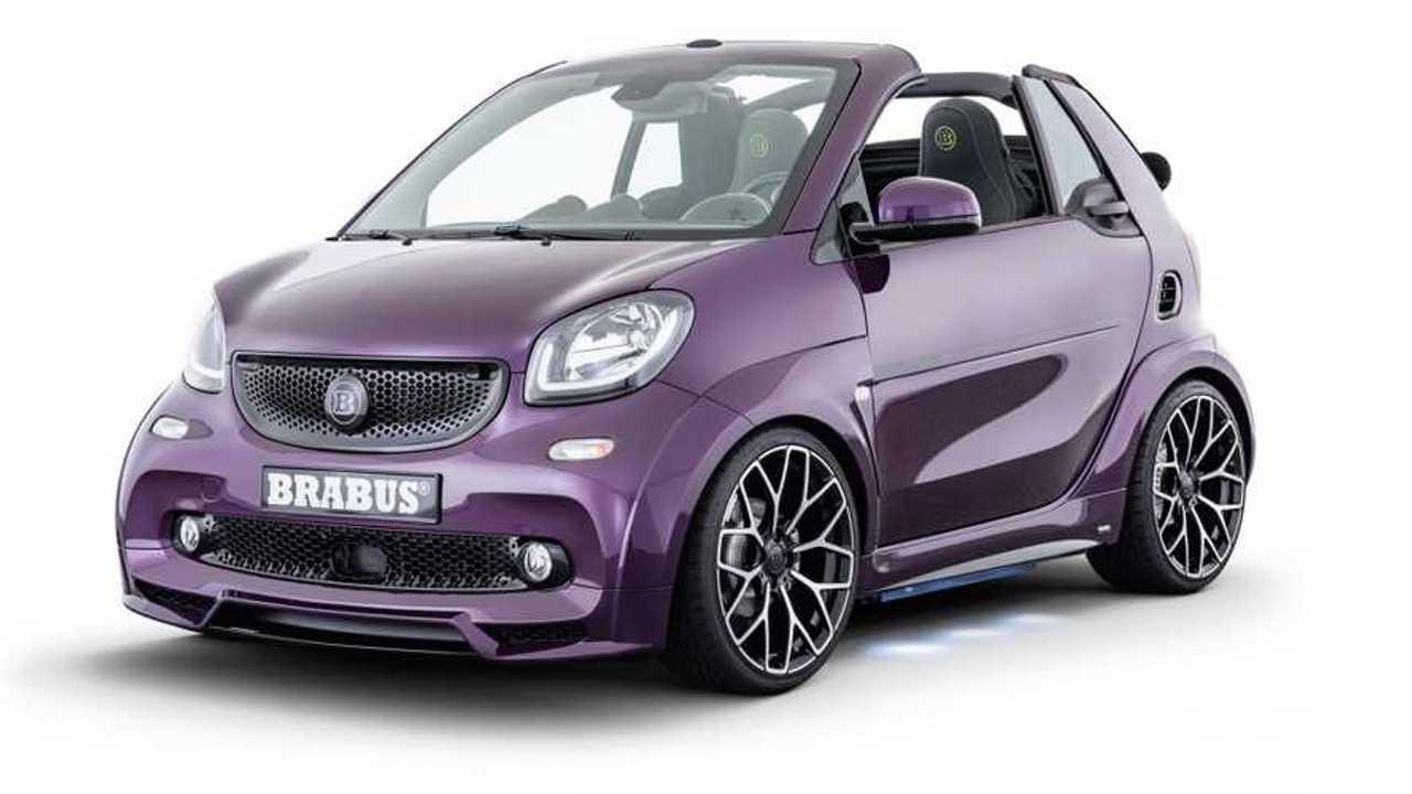 Brabus Ultimate E is a pint-sized purple Smart EQ for Frankfurt