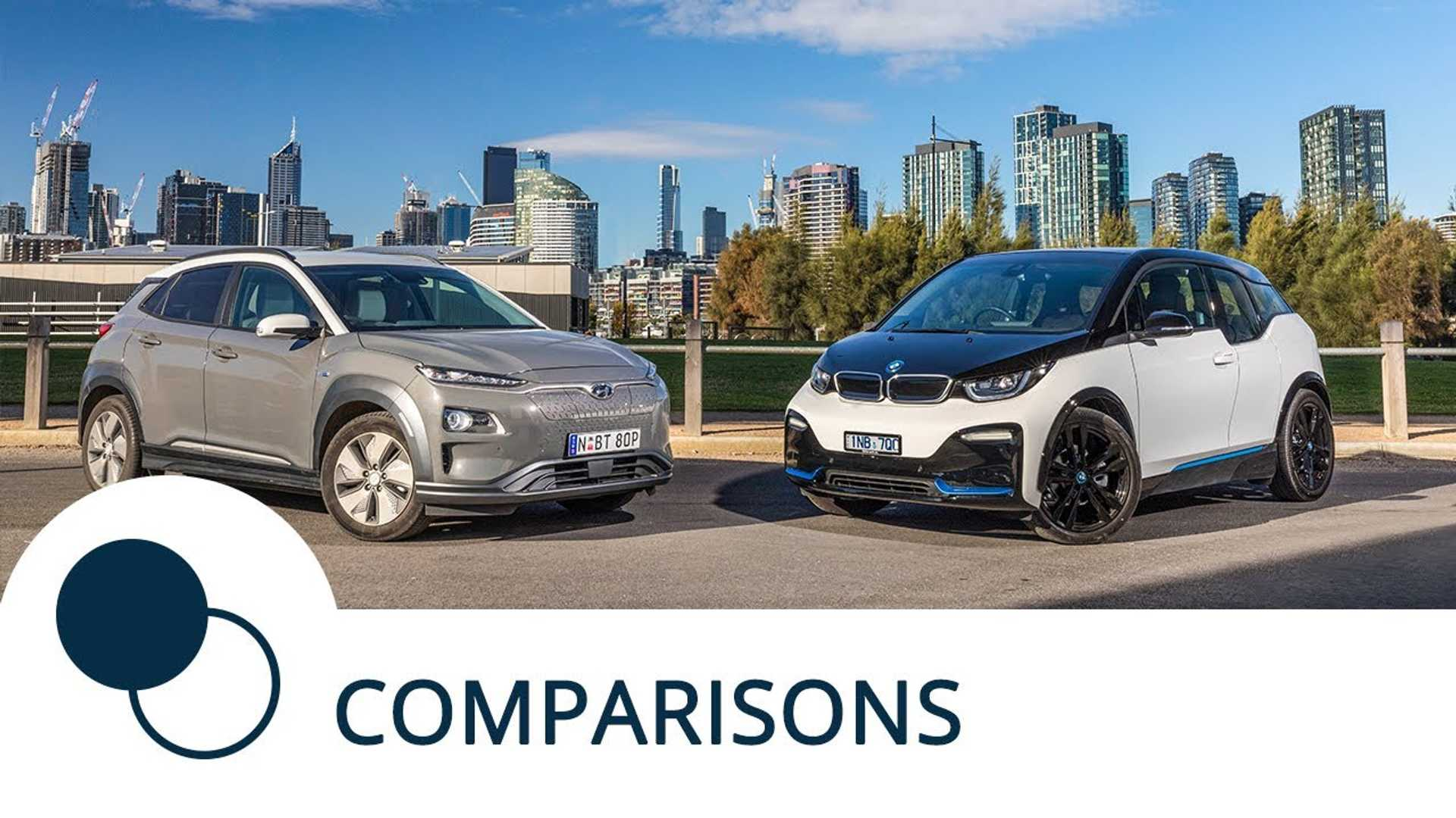 Hyundai Kona Electric Vs BMW i3s: EV Crossover Comparison