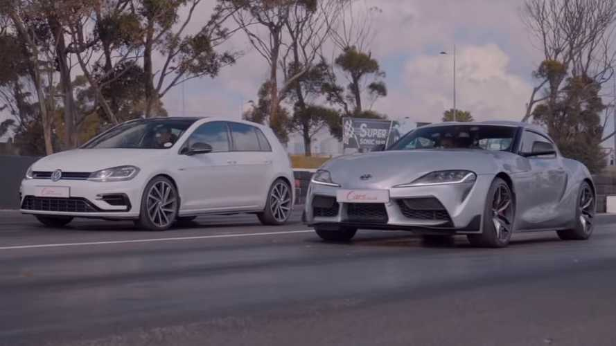 Toyota Supra Faces VW Golf R In Drag Race With Unexpected Outcome