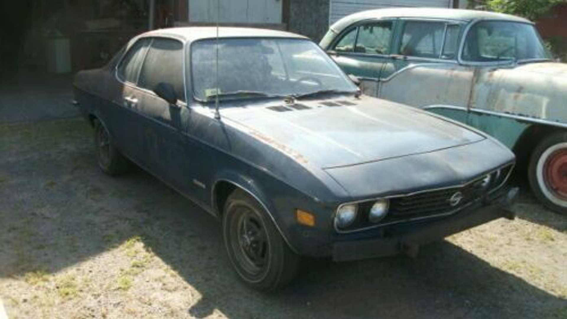 """[""""1973 Opel Manta Pulled From Barn After 40 Years""""]"""