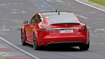 Tesla Model S Plaid spy shots