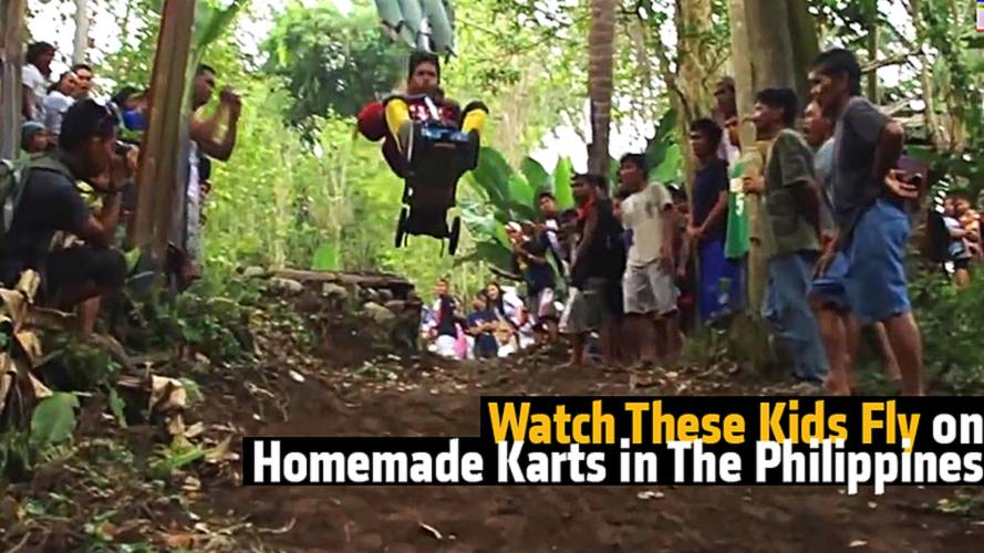 Watch These Kids Fly on Homemade Karts in The Philippines