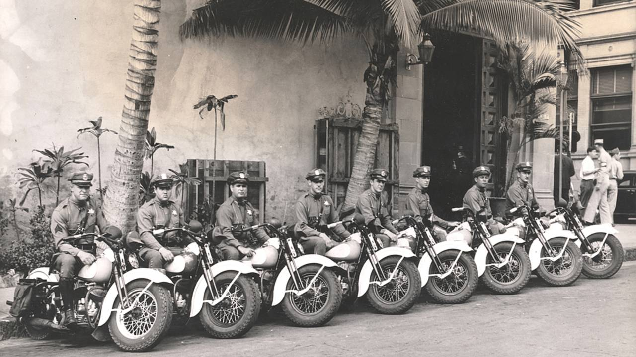 Police officers from Honolulu, Hawaii, circa 1944. Photo courtesy of the HD Archives.