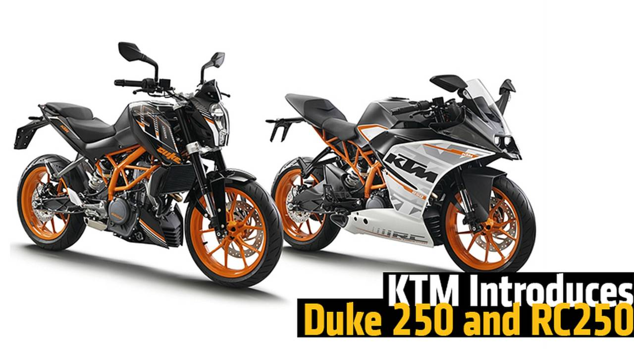 KTM Introduces Duke 250 and RC250