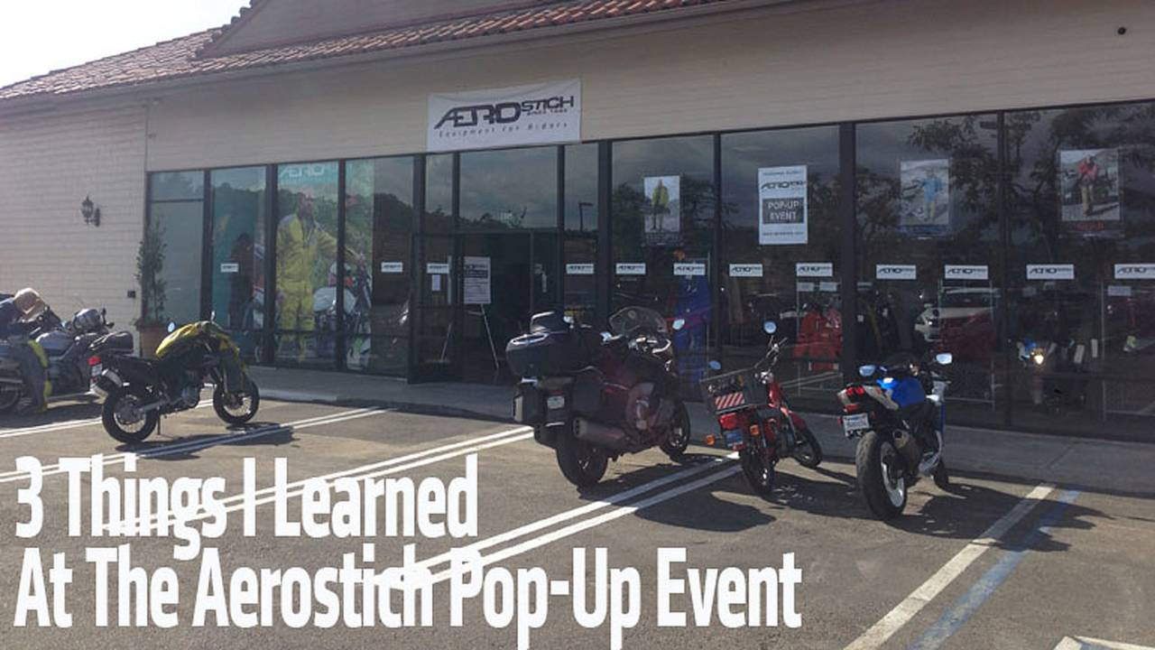 3 Things I Learned At The Aerostich Pop-Up Event