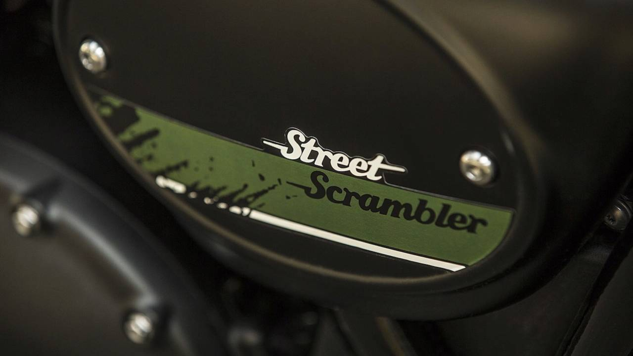 For the most part, the Street Cup is a high-quality machine. But every once in a while you can see where Triumph saved cash. Like with this sticker.