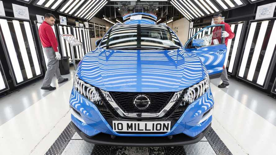 This is the 10 millionth car to be built at Nissan's Sunderland factory