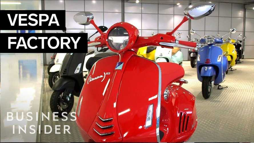 Go Inside The Vespa Factory And See How They're Made
