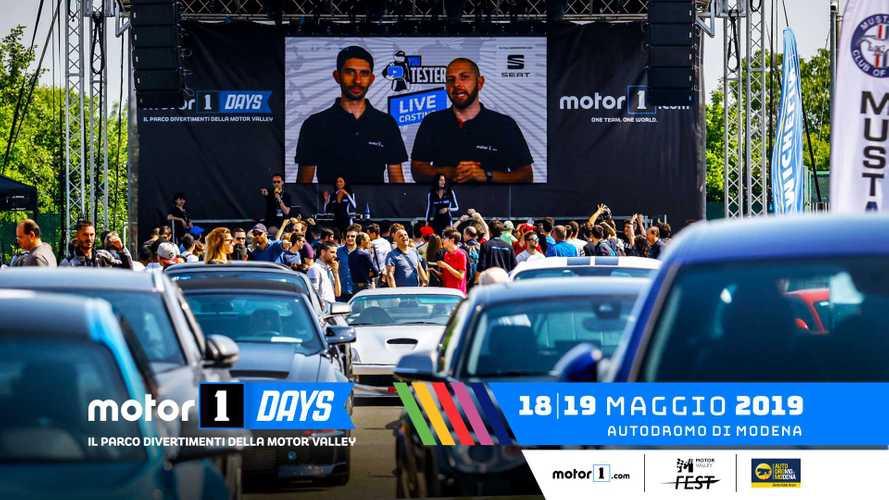 Motor1Days 2019, il programma completo 18 e 19 maggio