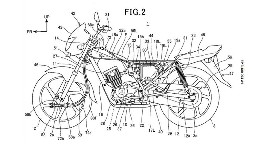 Weird Honda Motorcycle Patent Design With Drum Brakes