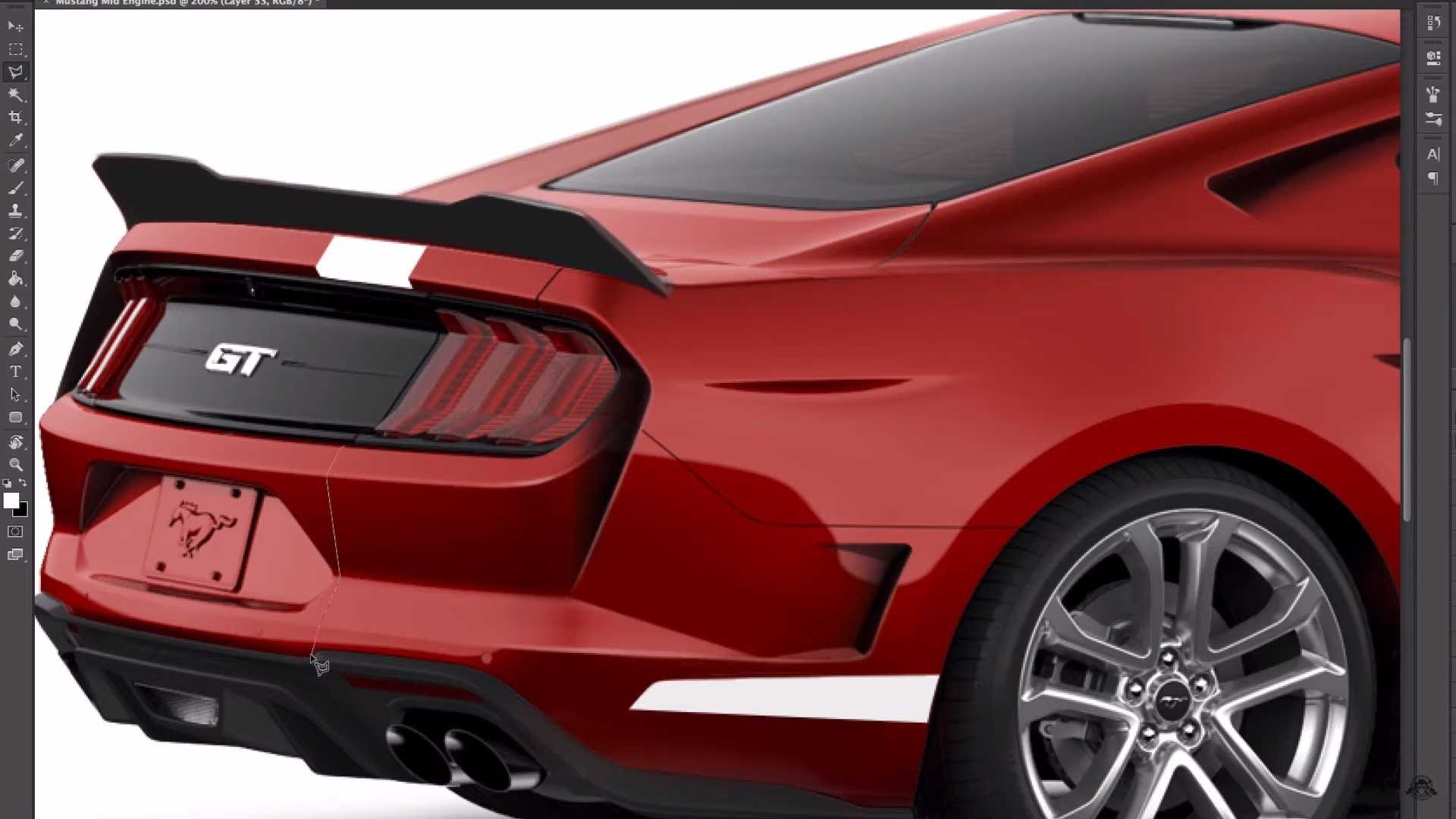 Mid Engine Ford Mustang Rendering 4275162