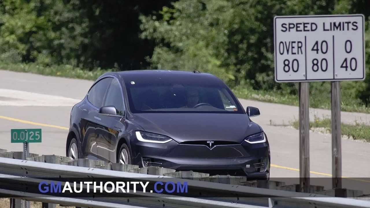 Tesla Model X at GM Milford Proving Grounds