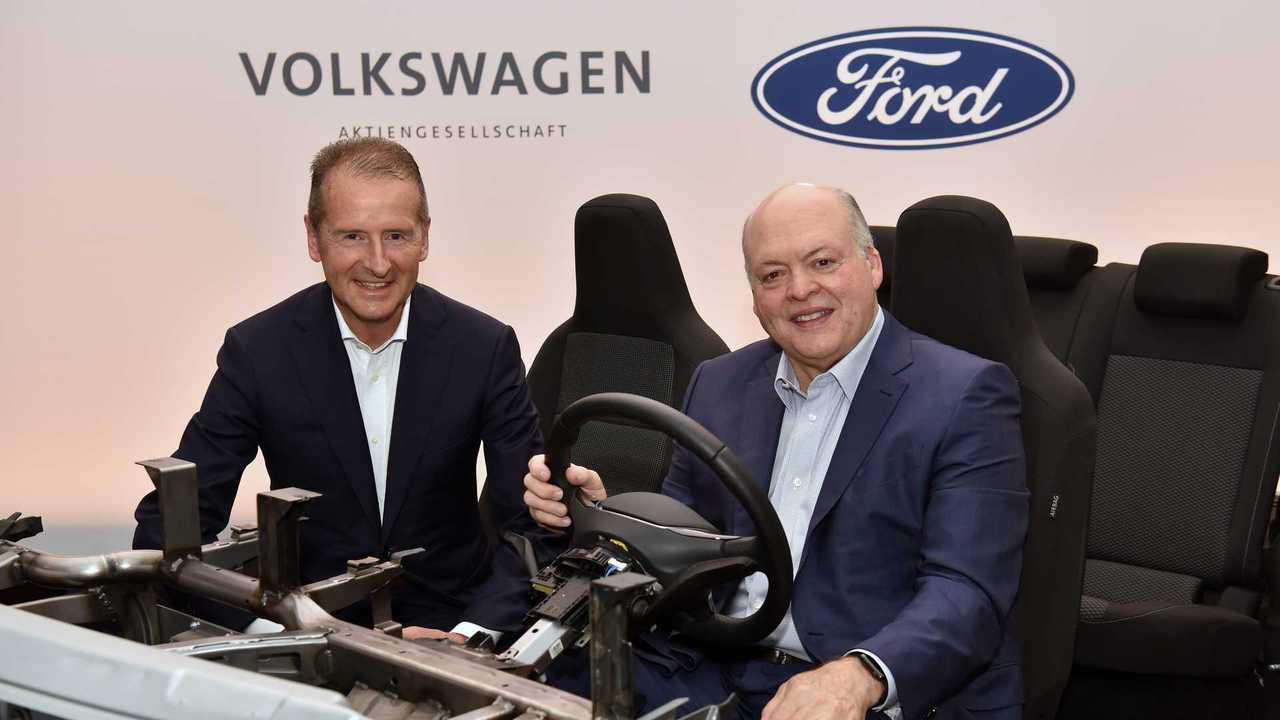 Pressekonferenz von VW und Ford am 12. Juli 2019