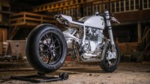 gorgeous custom honda cb500 white