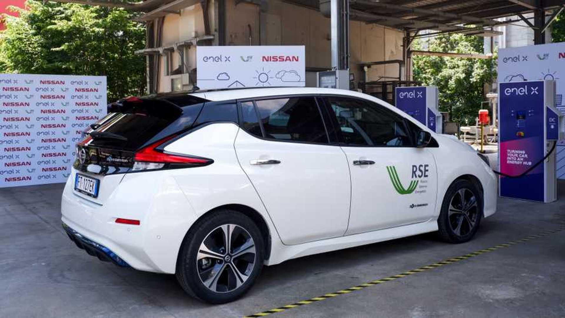 Nissan ed Enel X portano in Italia la tecnologia Vehicle ...
