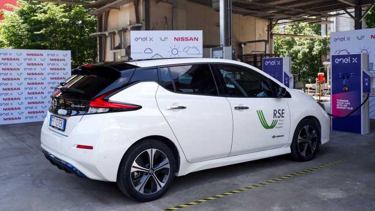 Nissan Leaf vehicle to grid Enel X