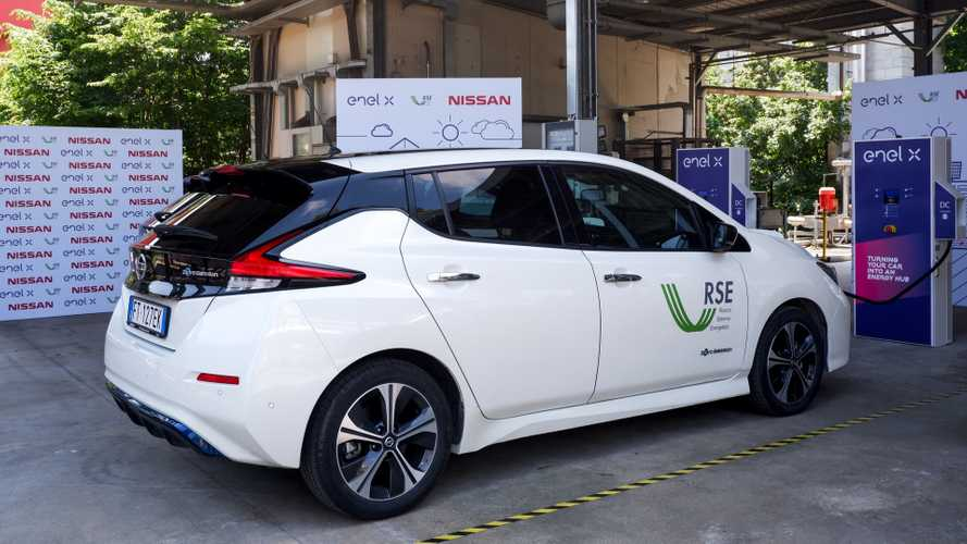 Nissan ed Enel X portano in Italia la tecnologia Vehicle to Grid