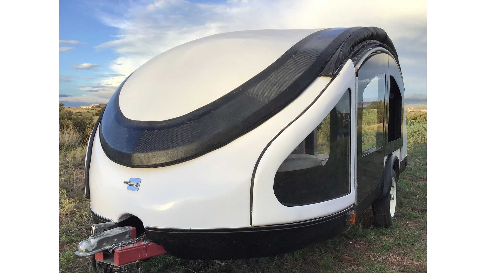 Teardrop Camper With Gull-Wing Roof Is Literally Made Of