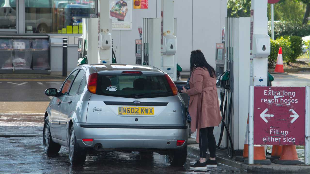 Sainsbury's petrol station in Preston Lancashire UK