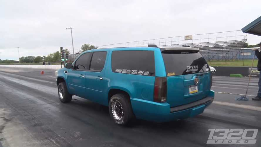 Watch This Crazy Cadillac Escalade Rip A 10-Second Quarter Mile
