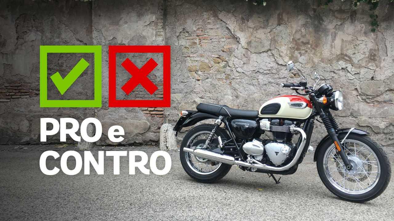 Triumph Bonneville T100 Pro e contro