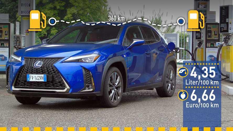 Tatsächlicher Verbrauch: Lexus UX 250h im Test