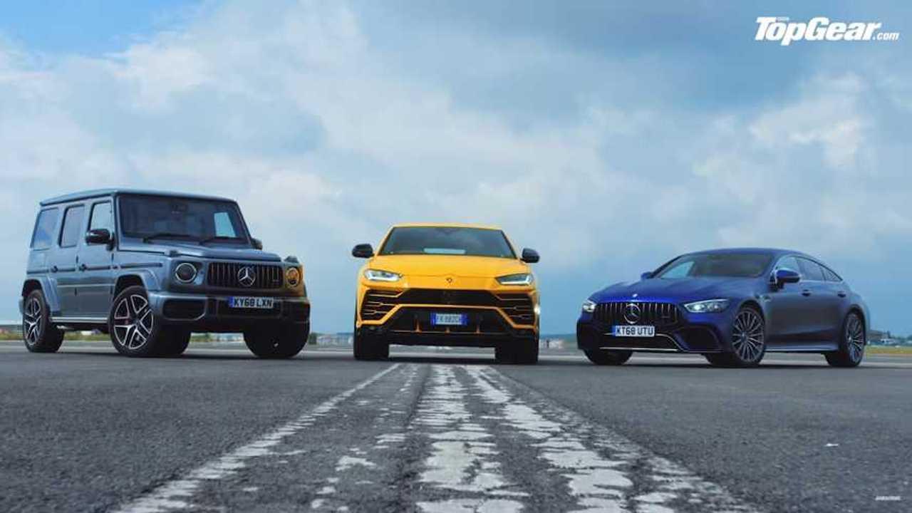 Top Gear Lambo Vs. Merc Drag Race