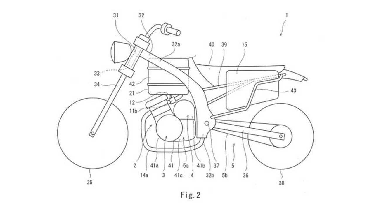 Brevetto moto ibrido Kawasaki
