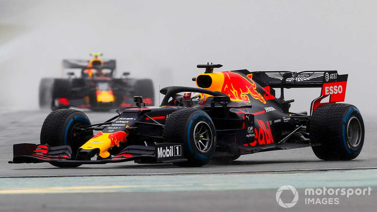 Max Verstappen and Pierre Gasly at German GP 2019