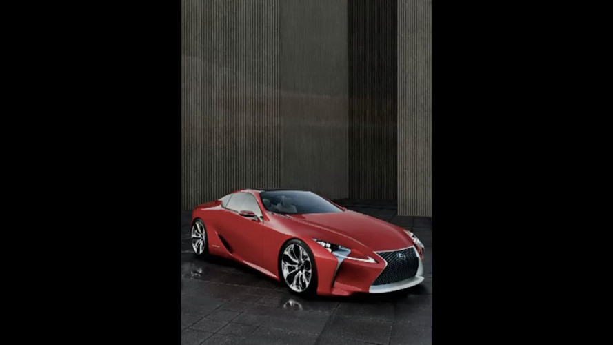 Lexus LF-Lc concept, la foto sfuggita