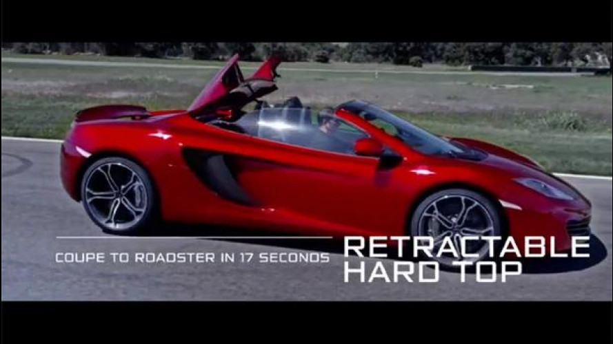 McLaren MP4-12C Spider in azione, il video