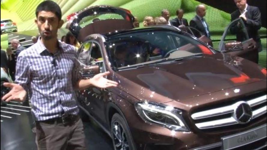 Salone di Francoforte, la Mercedes GLA vista dal vivo [VIDEO]