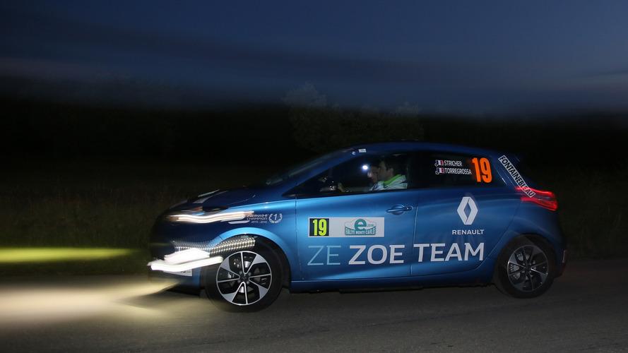 Podium et victoire de catégorie pour les Renault Zoé, à l'e-Rallye de Monte Carlo