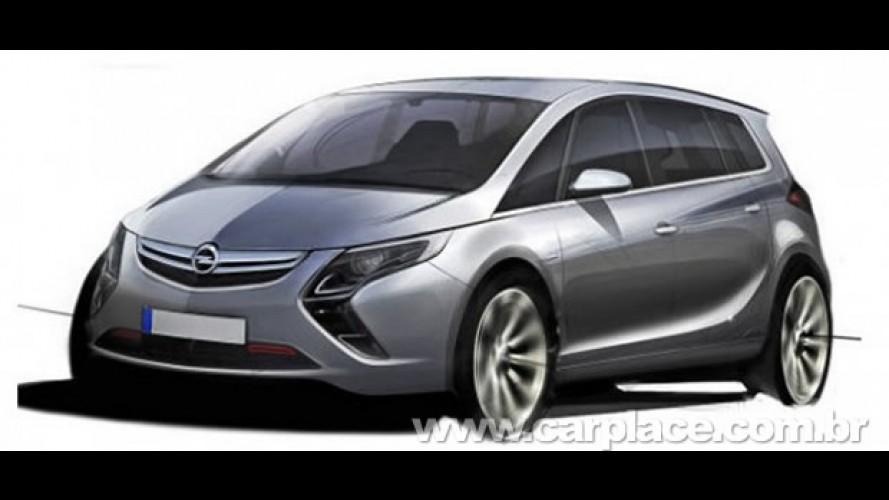 Vaza esboço da nova geração da Opel Zafira - Minivan terá traços do Insignia e Ampera