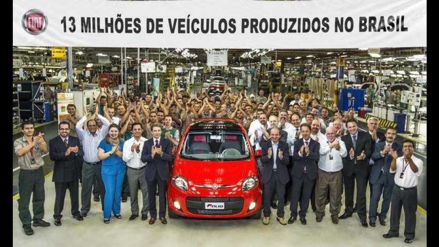 Fiat comemora 13 milhões de veículos produzidos no Brasil