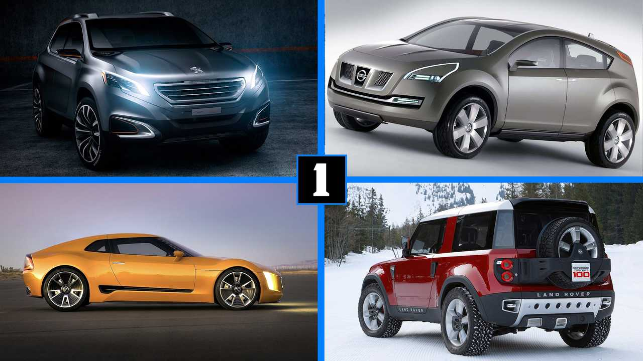 Konzeptfahrzeuge, die Serienfahrzeuge inspirieren