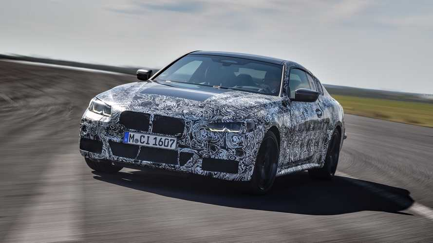 BMW 4 Series Coupe camouflaged prototype videos show the hot M440i