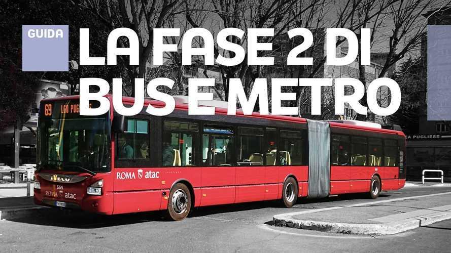 Coronavirus Fase 2 su bus, metro, treni e aerei solo con mascherina