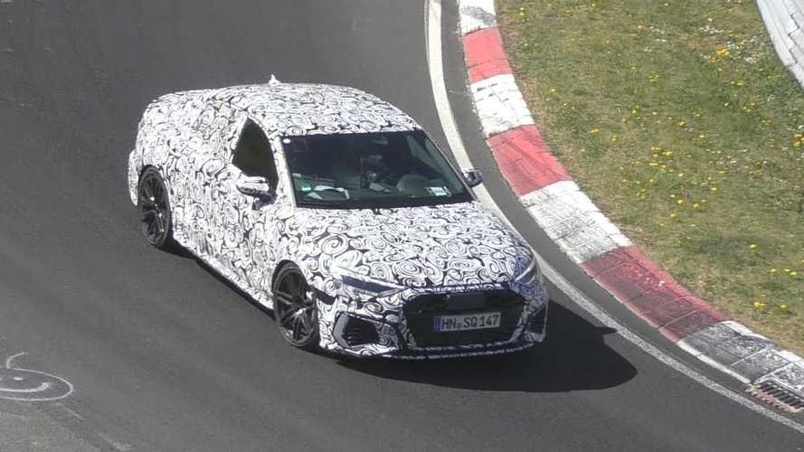 Next gen Audi RS3 Saloon caught testing at the Nurburgring