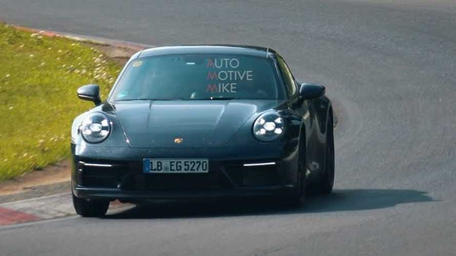 Which future 911 is Porsche testing at the Nürburgring?
