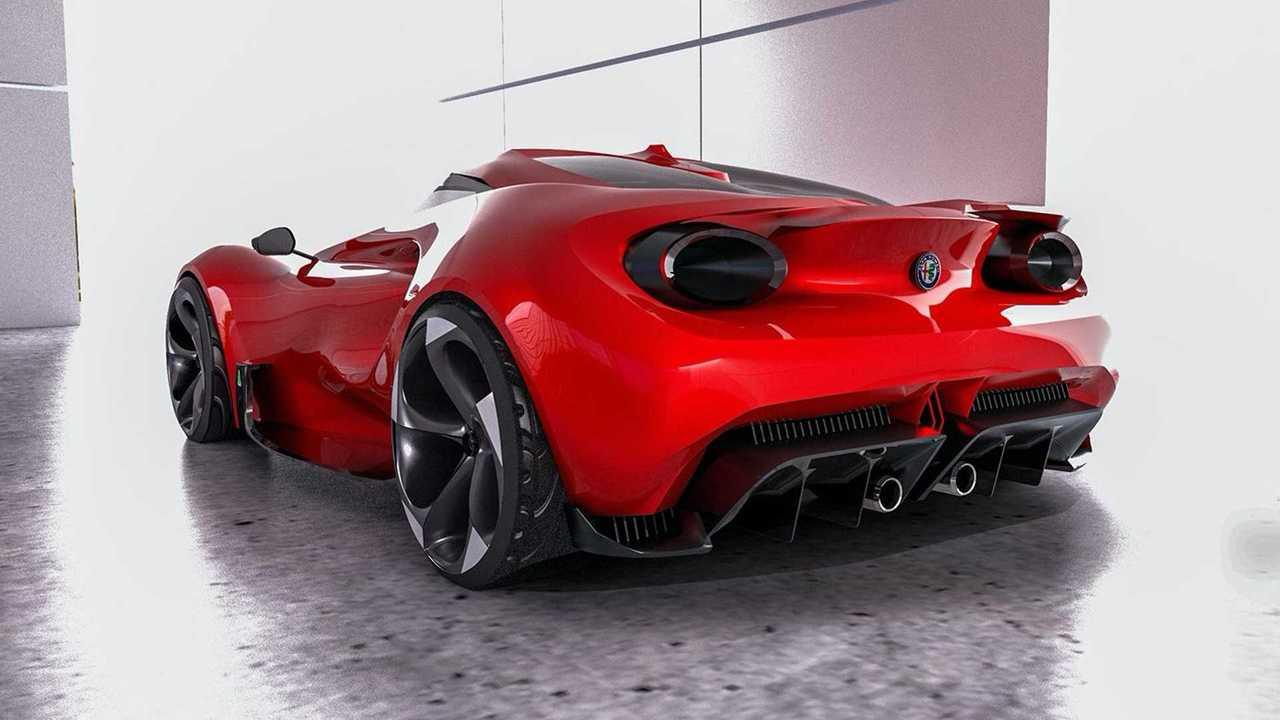 Alfa Romeo 4C renderkép