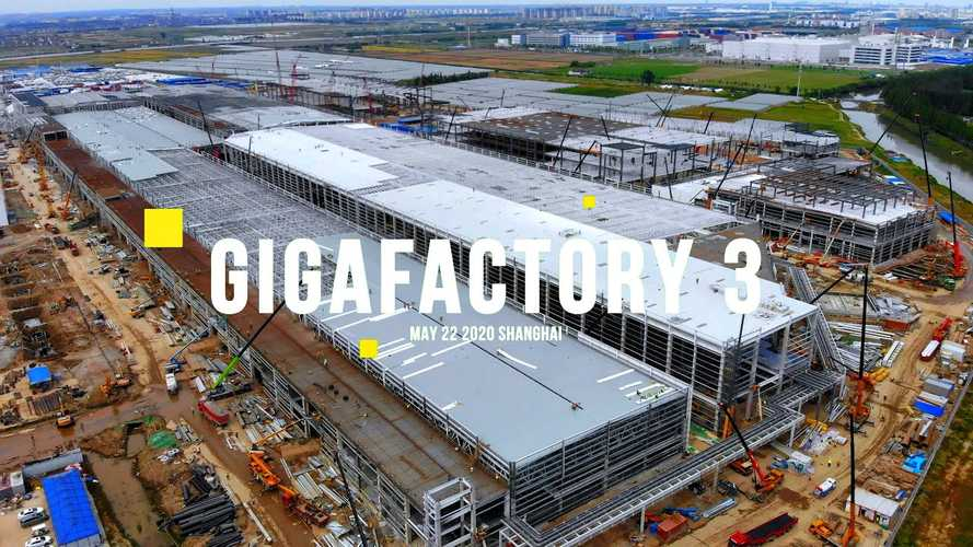 Tesla Giga Shanghai Construction Progress May 22, 2020: Video