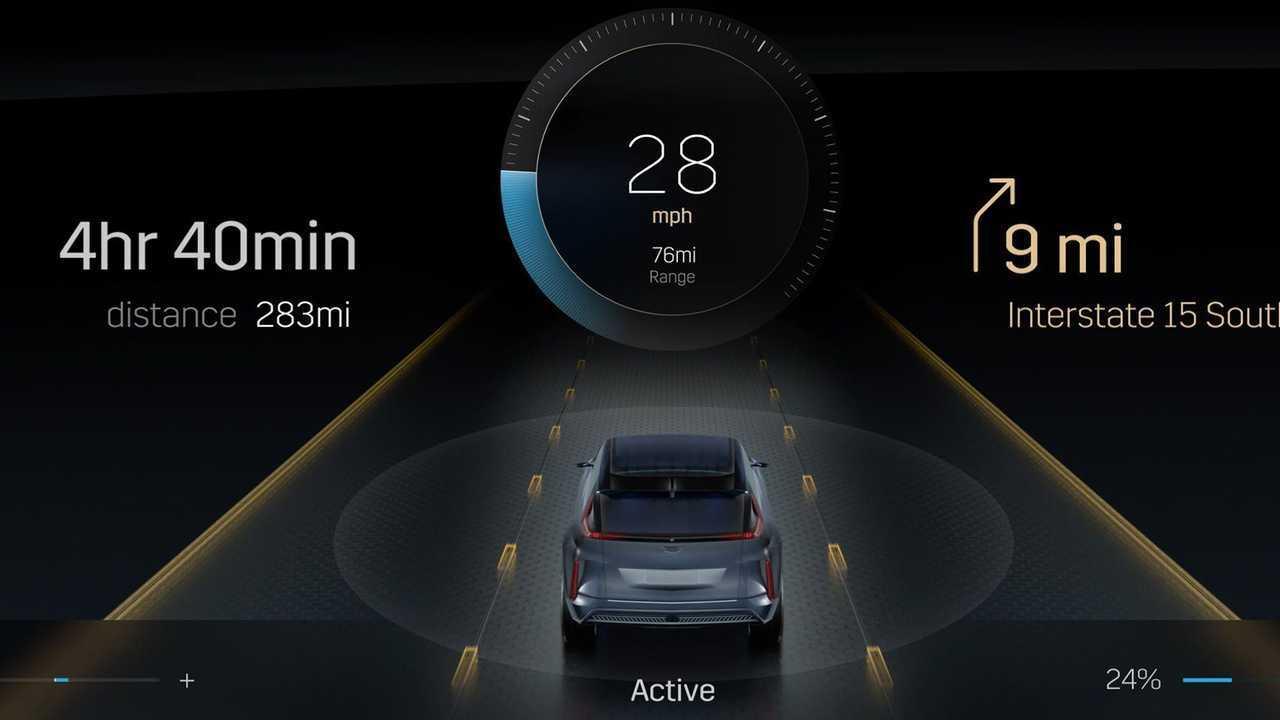 Cadillac Lyriq Infotainment Display Speedometer