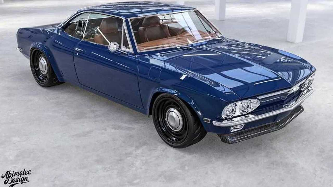 Mid-engine Chevrolet Corvair.