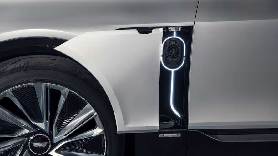 Cadillac Lyriq Charge Port Door Teaser