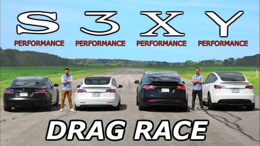 La sfida definitiva tra le Tesla Performance: è tutti contro tutti