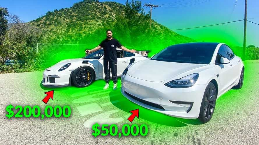 Watch Tesla Model 3 race Porsche 911 GT3 RS: Electric vs petrol