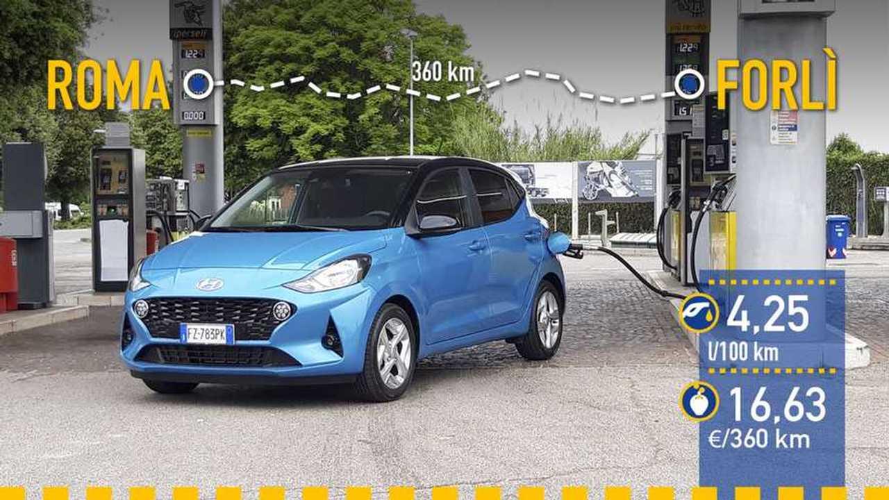 Hyundai i10 2020, prueba de consumo real